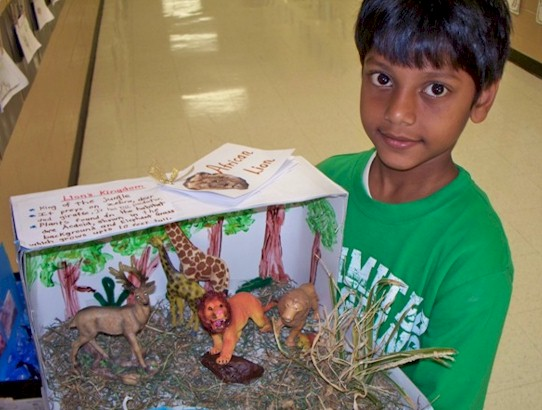 how to make a longhouse out of a shoebox